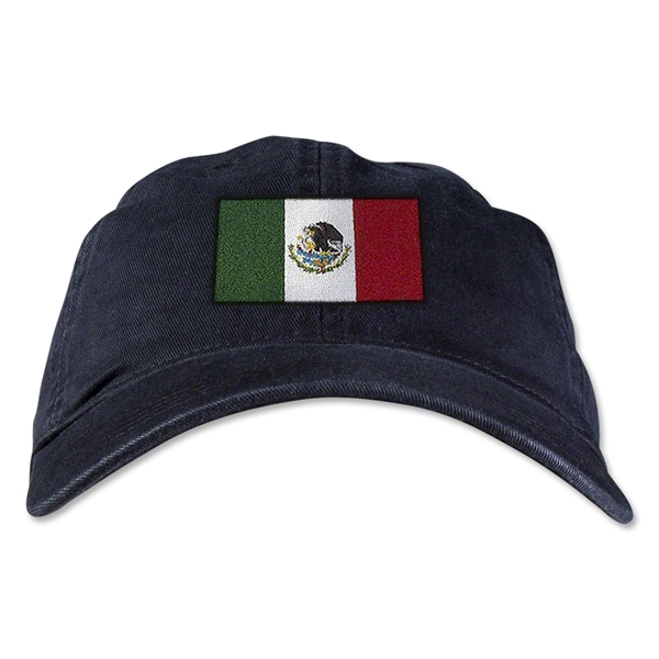 Mexico Unstructured Adjustable Cap (Black)