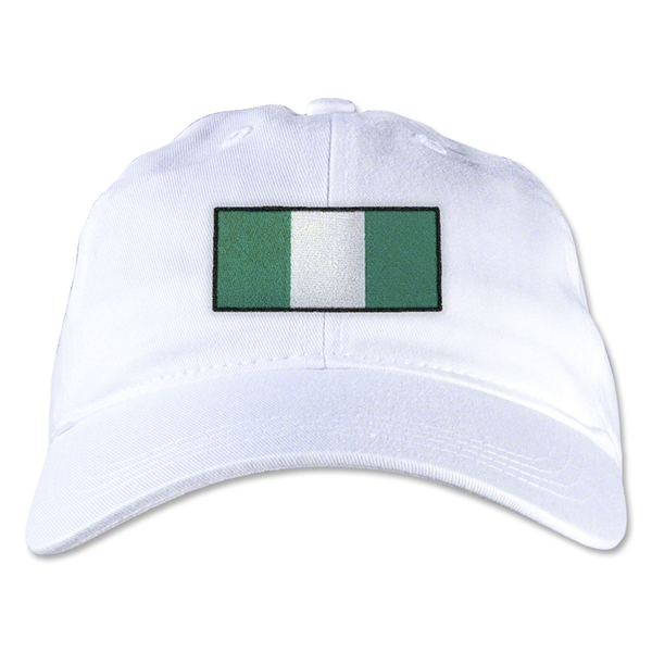 Nigeria Unstructured Adjustable Cap (White)
