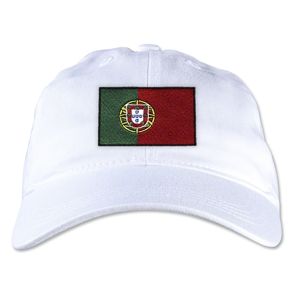 Portugal Unstructured Adjustable Cap (White)