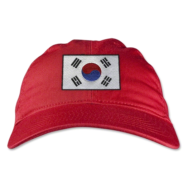 South Korea Unstructured Adjustable Cap (Red)