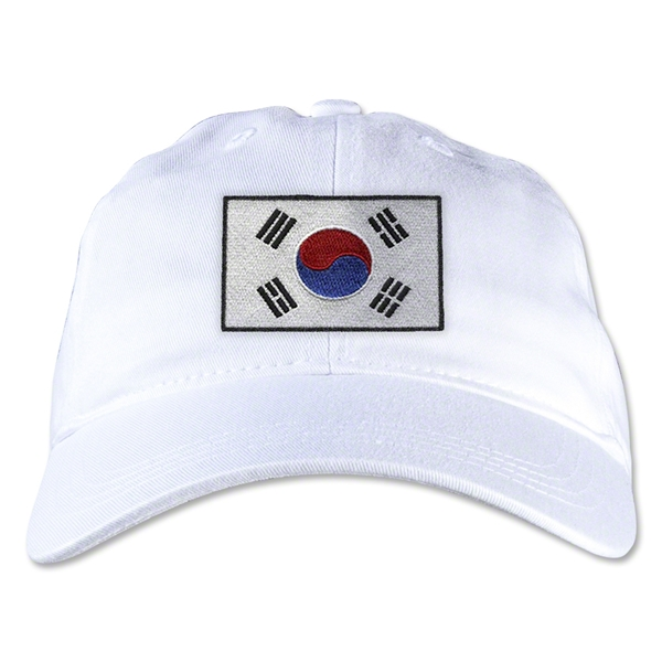 South Korea Unstructured Adjustable Cap (White)