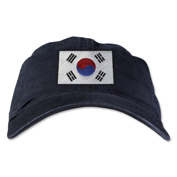 South Korea Unstructured Adjustable Cap (Black)