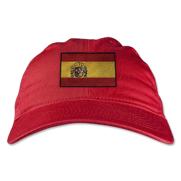 Spain Unstructured Adjustable Cap (Red)