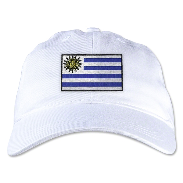 Uruguay Unstructured Adjustable Cap (White)