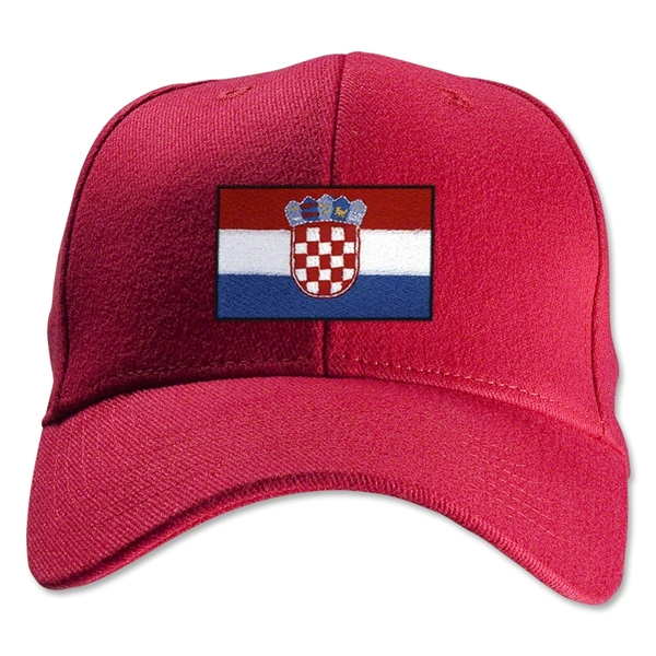 Croatia Flexfit Cap (Red)