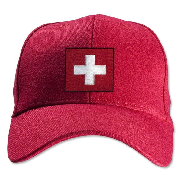 Switzerland Flexfit Cap (Red)