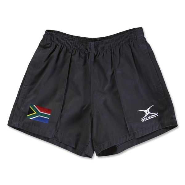 South Africa Flag Kiwi Pro Rugby Shorts (Black)
