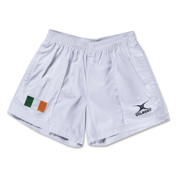 Ireland Flag Kiwi Pro Rugby Shorts (White)