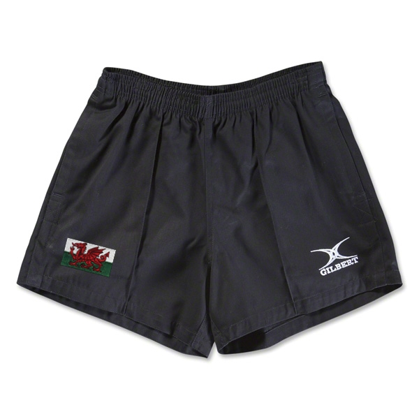 Wales Flag Kiwi Pro Rugby Shorts (Black)