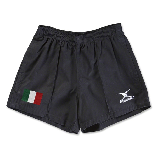 Italy Flag Kiwi Pro Rugby Shorts (Black)