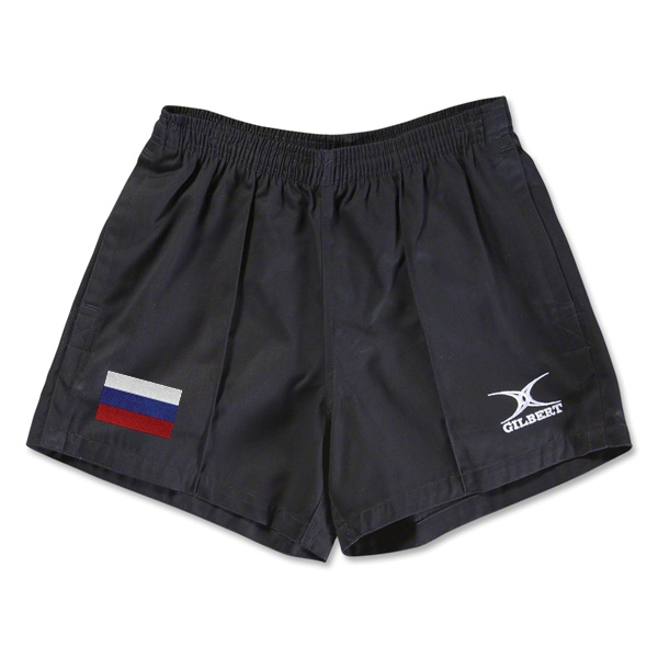 Russia Flag Kiwi Pro Rugby Shorts (Black)