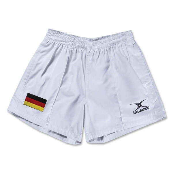 Germany Flag Kiwi Pro Rugby Shorts (White)