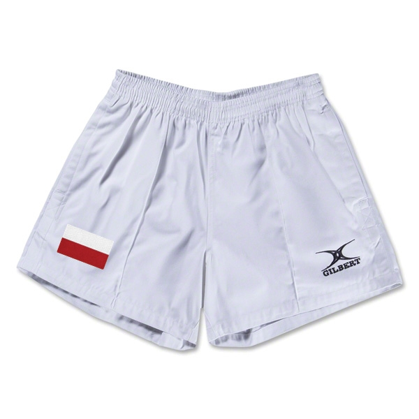 Poland Flag Kiwi Pro Rugby Shorts (White)