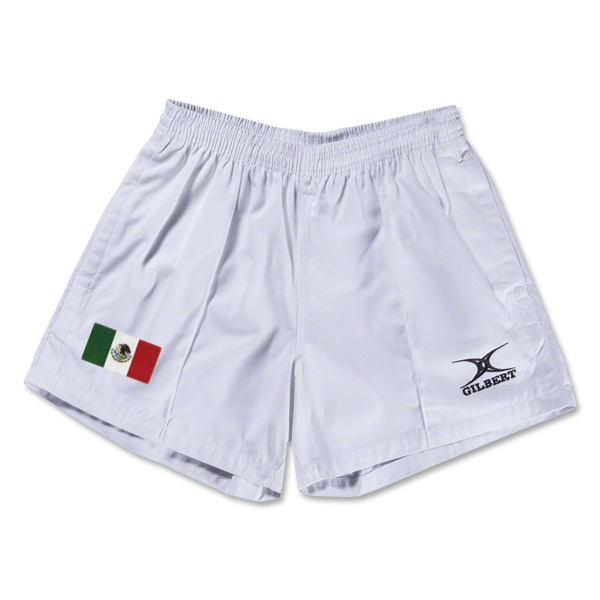 Mexico Flag Kiwi Pro Rugby Shorts (White)