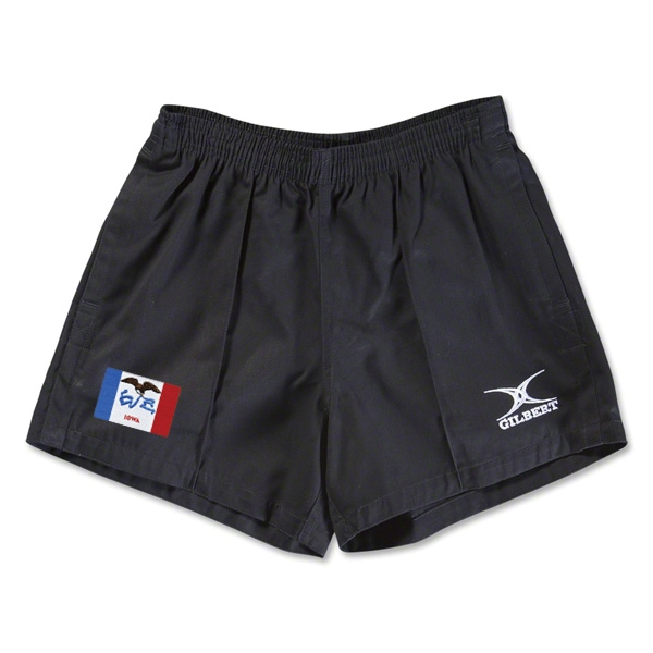 Iowa Flag Kiwi Pro Rugby Shorts (Black)