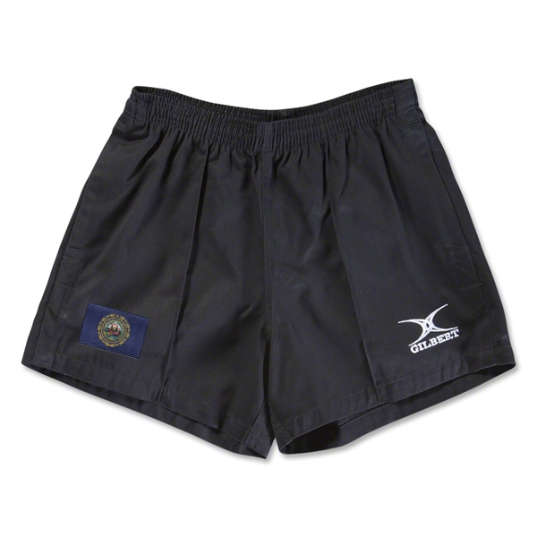 New Hampshire Flag Kiwi Pro Rugby Shorts (Black)