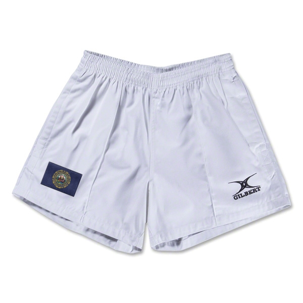 New Hampshire Flag Kiwi Pro Rugby Shorts (White)