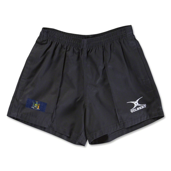 New York Flag Kiwi Pro Rugby Shorts (Black)
