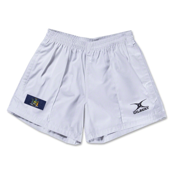 New York Flag Kiwi Pro Rugby Shorts (White)
