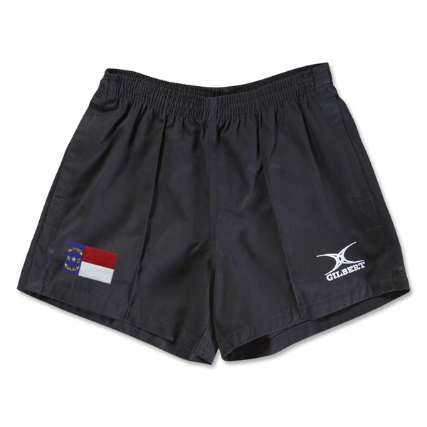 North Carolina Flag Kiwi Pro Rugby Shorts (Black)