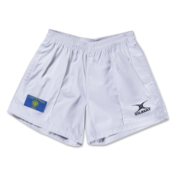 Oregon Flag Kiwi Pro Rugby Shorts (White)