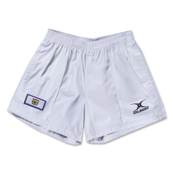 West Virginia Flag Kiwi Pro Rugby Shorts (White)