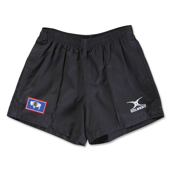 Wyoming Flag Kiwi Pro Rugby Shorts (Black)