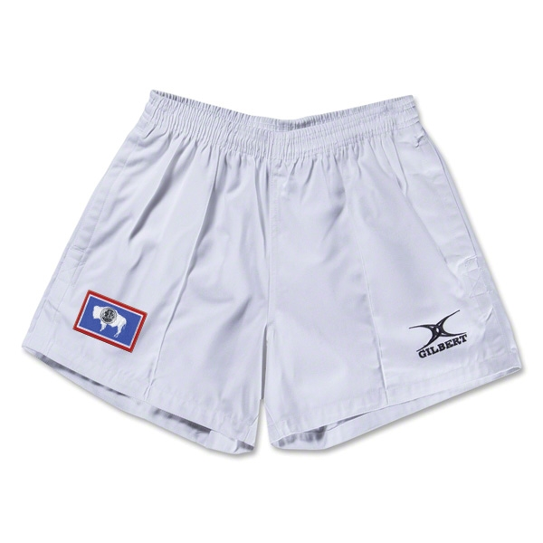 Wyoming Flag Kiwi Pro Rugby Shorts (White)