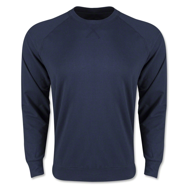 Long Sleeve Crewneck Fleece (Navy)