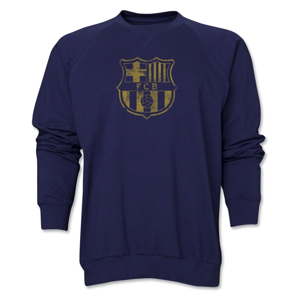 Barcelona Vintage Crewneck Fleece (Navy)