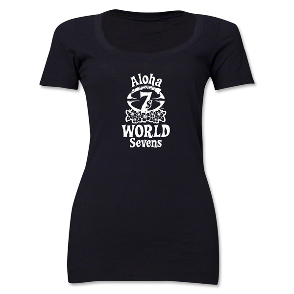 Aloha World Sevens Women's Scoop Neck T-Shirt (Black)
