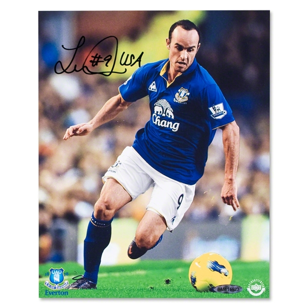 Landon Donovan Autographed Everton Driven Unframed Photo