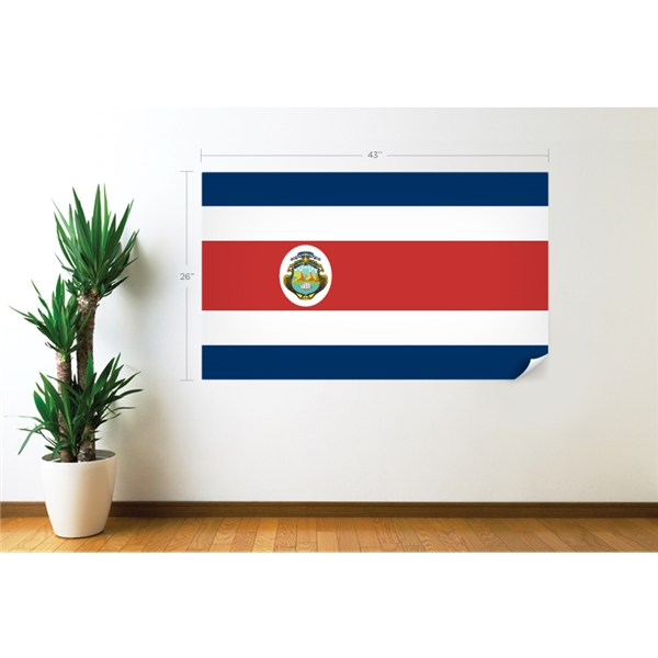 Costa Rica Flag Wall Decal
