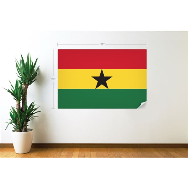 Ghana Flag Wall Decal