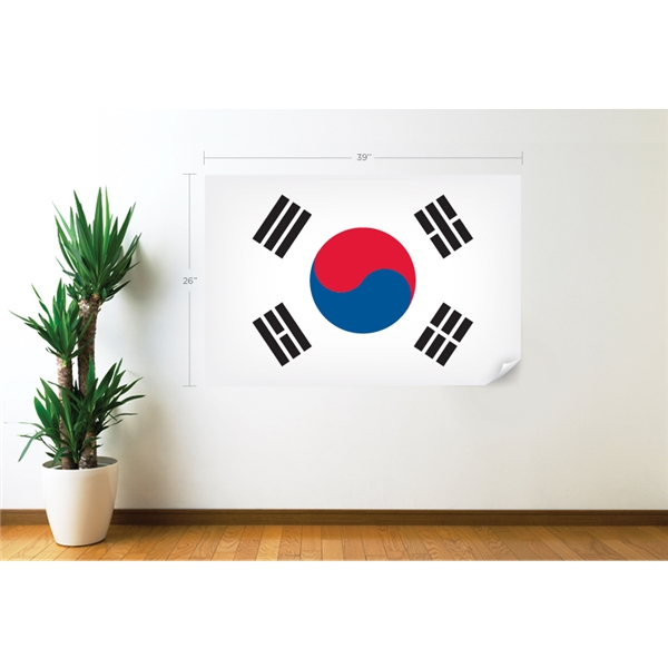South Korea Flag Wall Decal