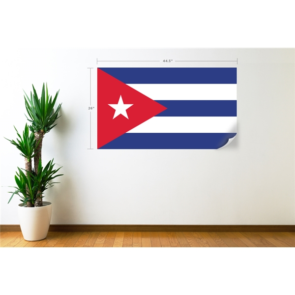 Cuba Flag Wall Decal
