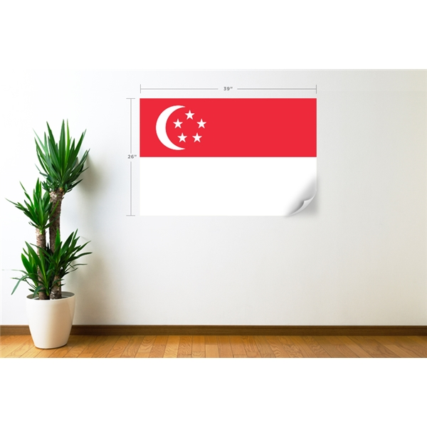Singapore Flag Wall Decal
