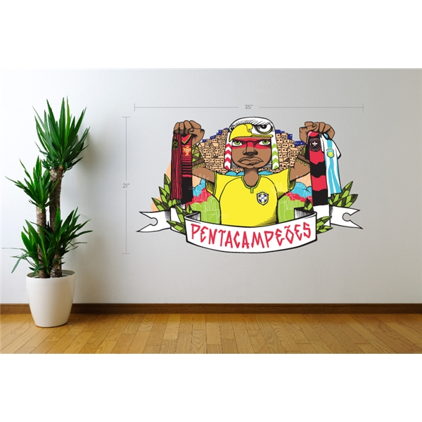 ACME Brazil Pentacampeoes Grapic Wall Decal