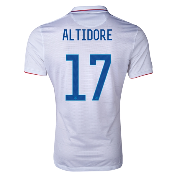 USA 14/15 ALTIDORE Authentic Home Soccer Jersey