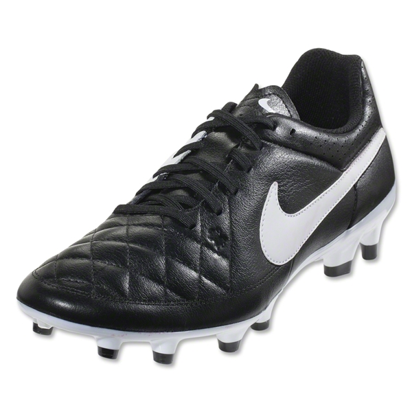 Nike Tiempo Genio Leather FG (Black/White)