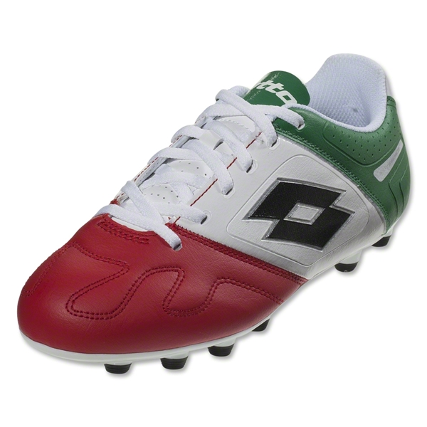 Lotto Stadio Potenza IV 700 FG Junior (White/Green/Red)