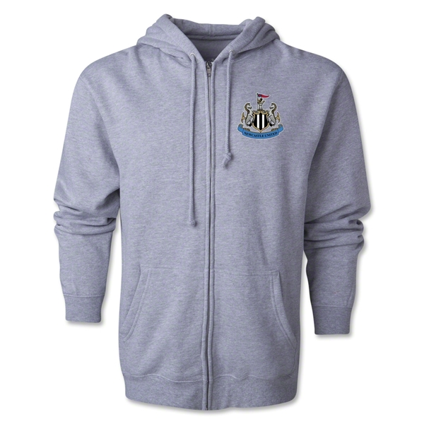 Newcastle United Distressed Full Zip Hooded Fleece (Gray)