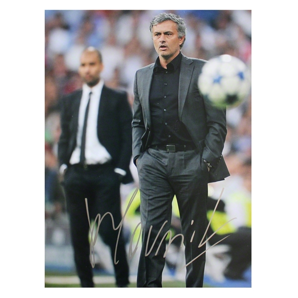 ICONS Jose Mourinho Signed Madrid Photo Clasico Rivalry