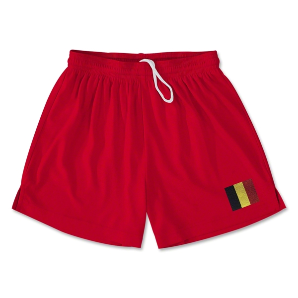 Belgium Team Soccer Shorts (Red)