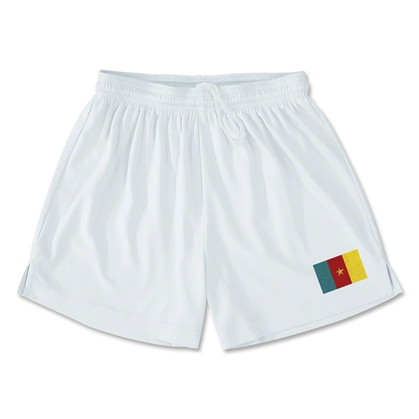 Cameroon Team Soccer Shorts (White)