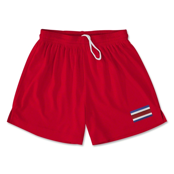 Costa Rica Team Soccer Shorts (Red)