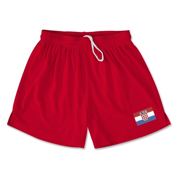Croatia Team Soccer Shorts (Red)