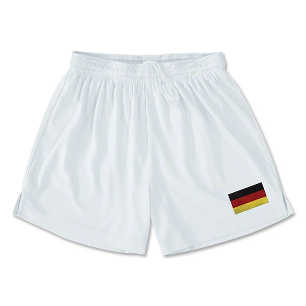 Germany Team Soccer Shorts (White)