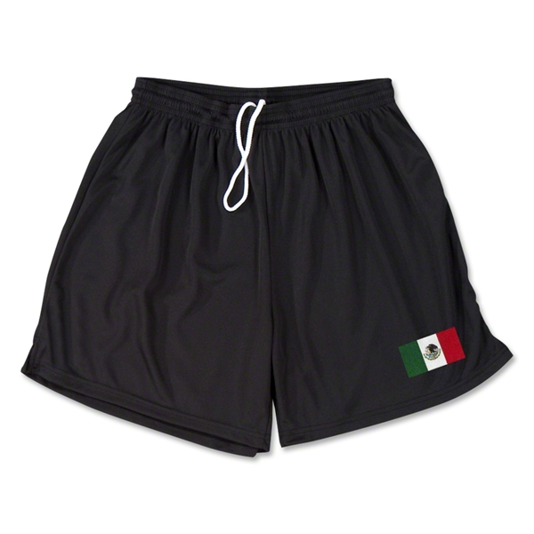 Mexico Team Soccer Shorts (Black)