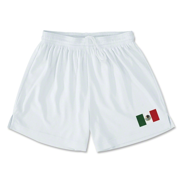 Mexico Team Soccer Shorts (White)